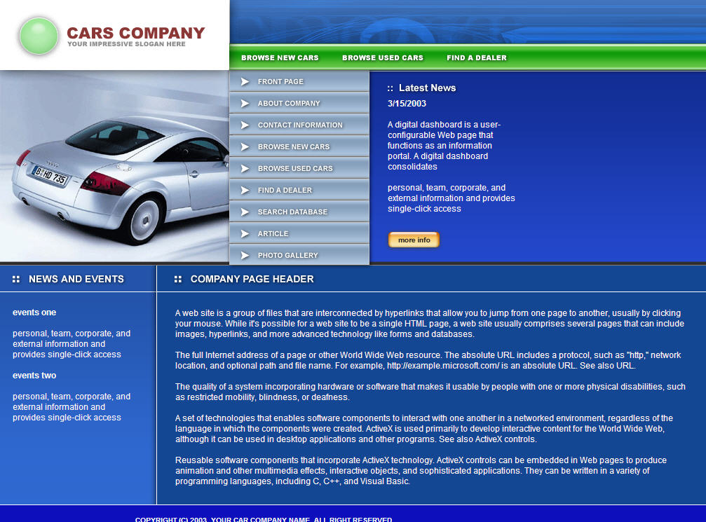 Download Free Website Template 121131