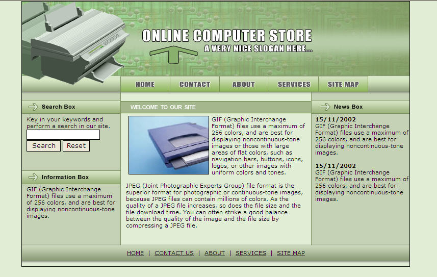 Download Free Website Template 121141