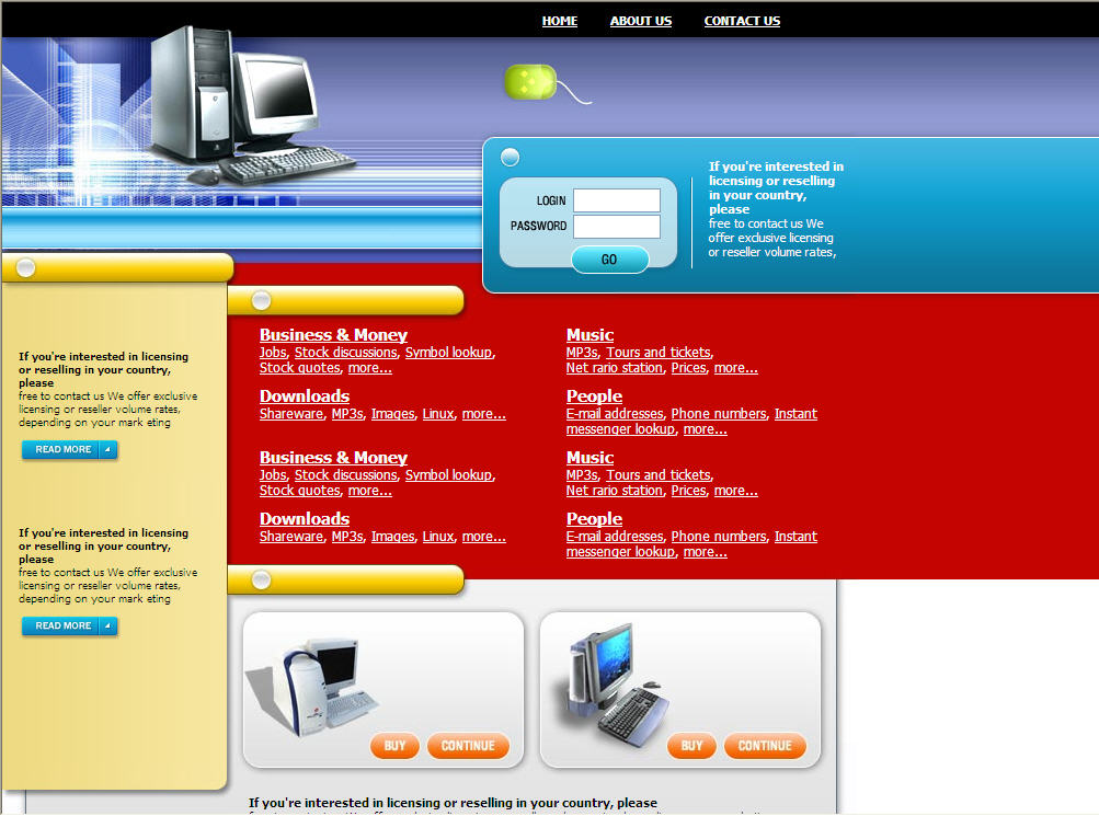 Download Free Website Template 121142
