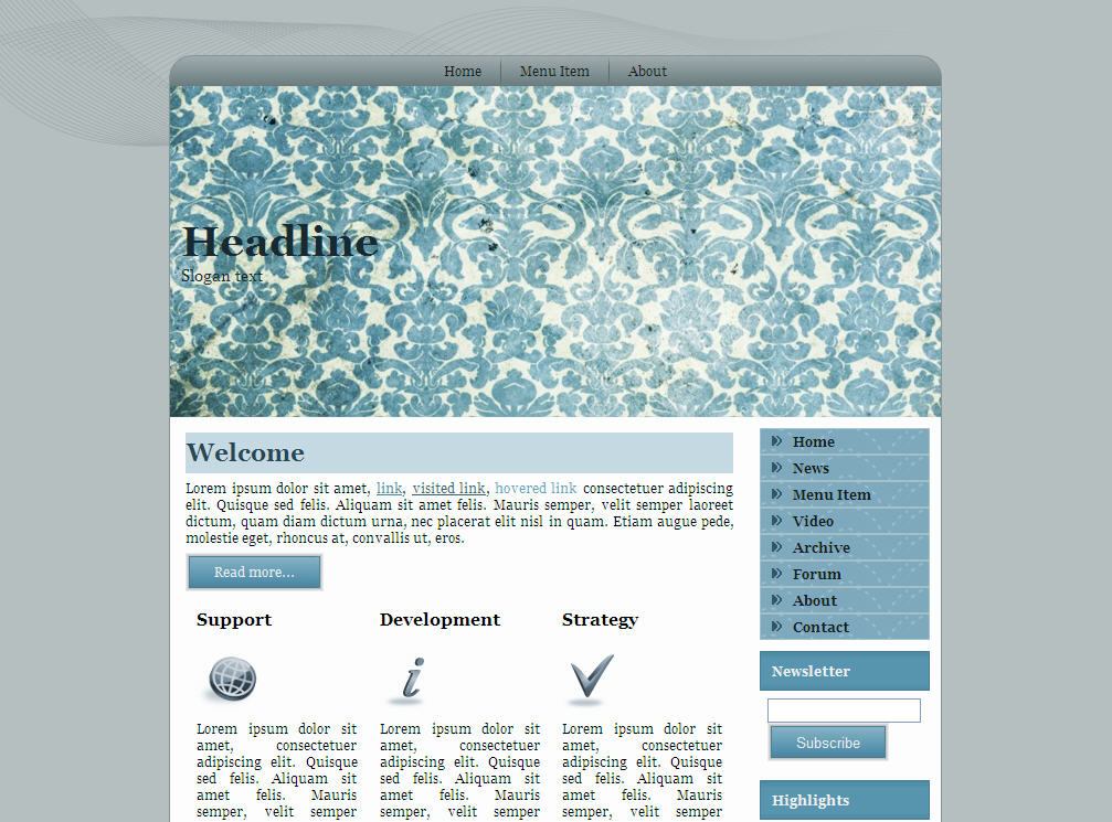 Download Free Website Template 121164