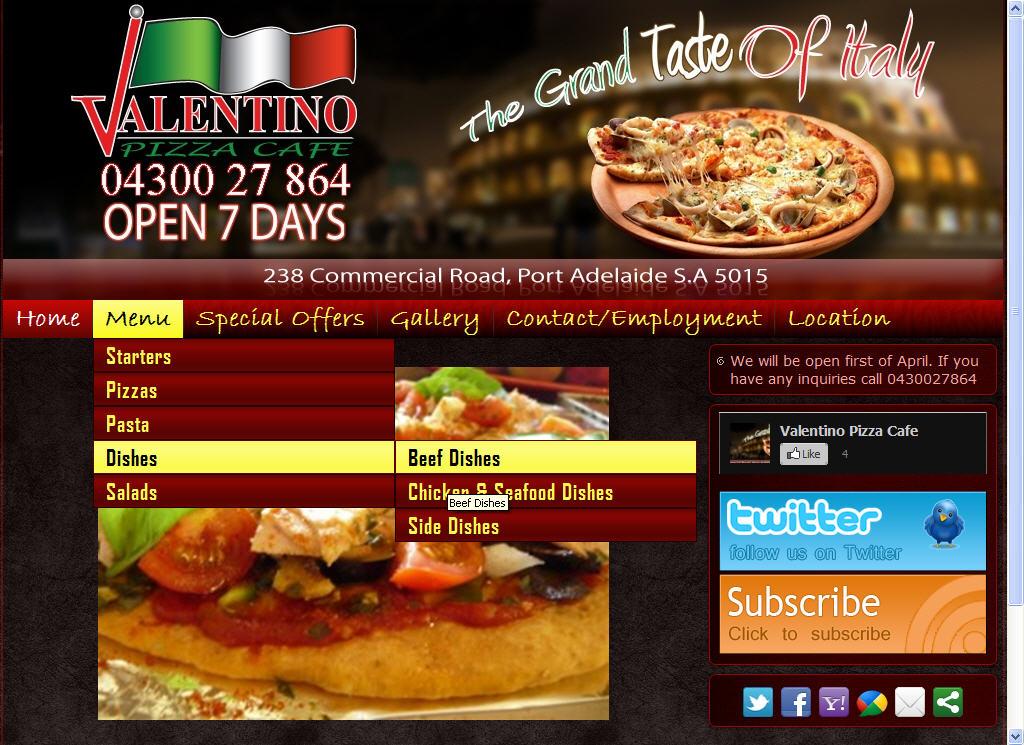 Valentino Pizza Cafe