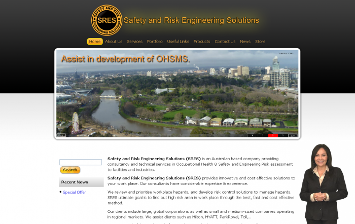 Webdesign for safety and risk engineering
