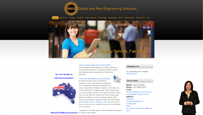 Website Design for SRES Australia