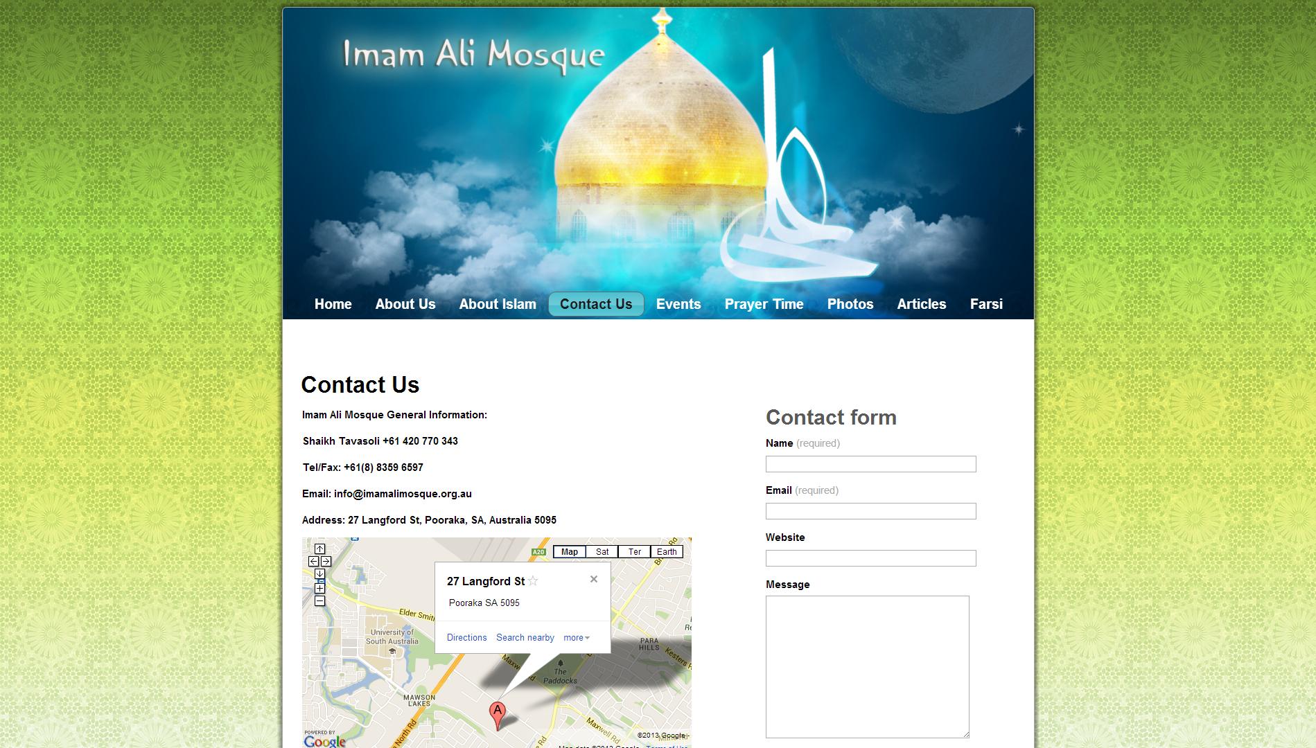 Website of Imam Ali Mosque