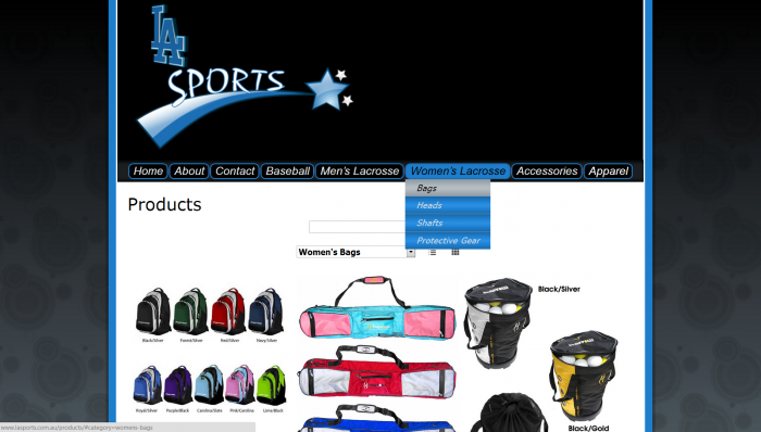 online shop website for la sports 5