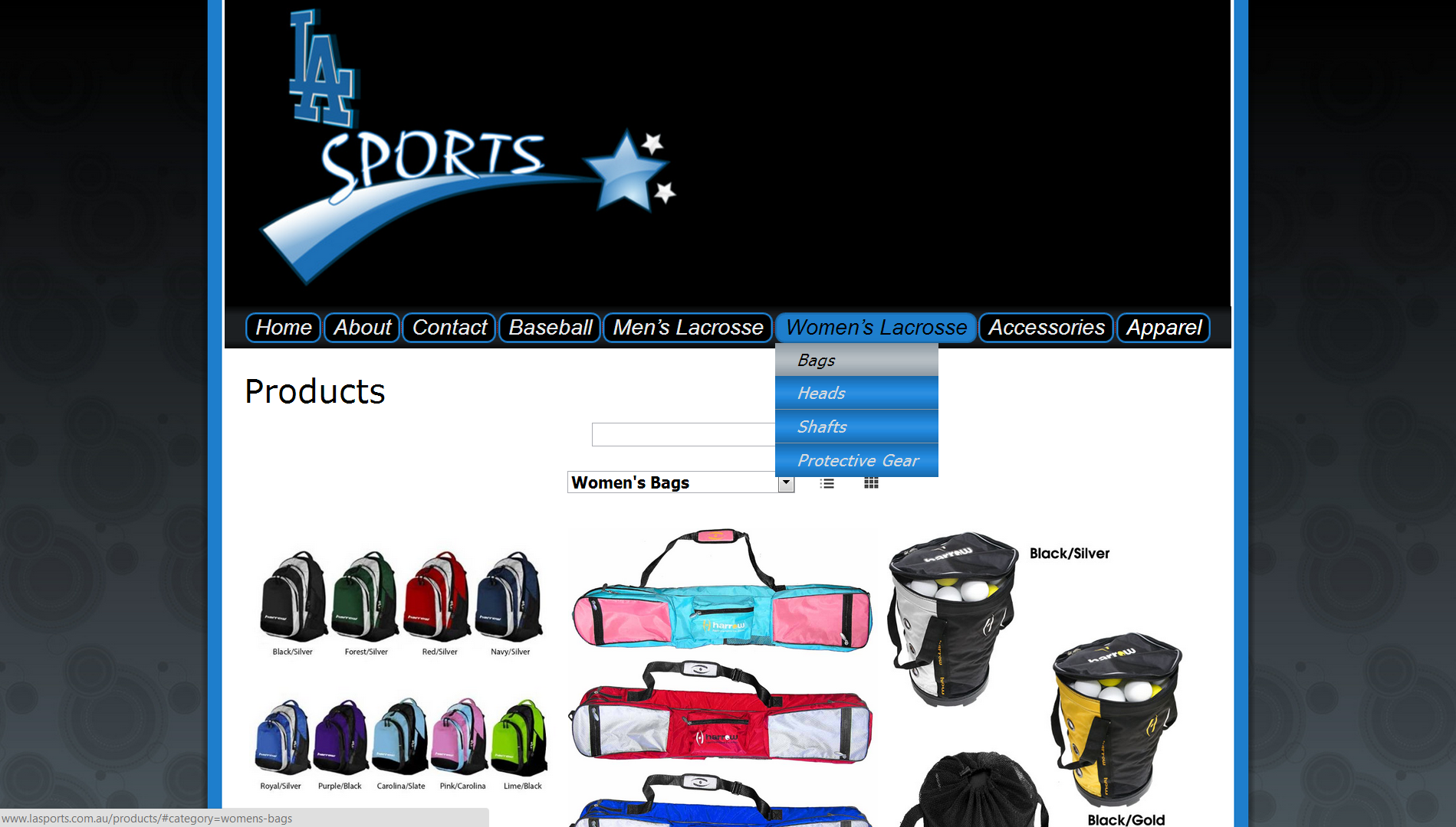 Online Shop Website for La Sports