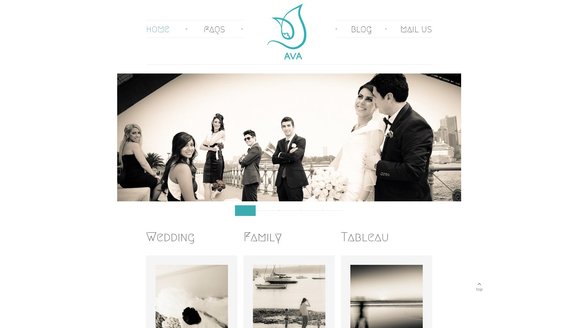 AVA Studio Website Design