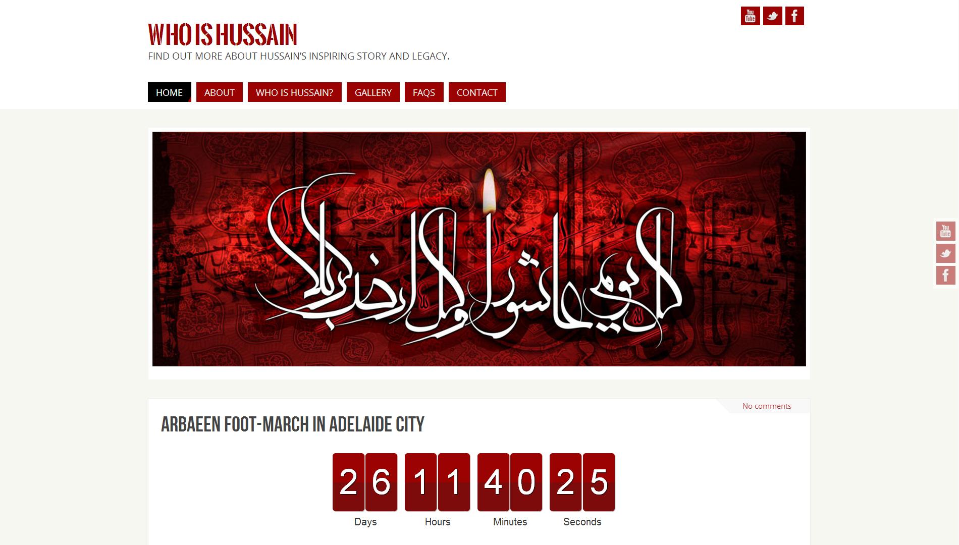 WhoIsHussain? Website Design
