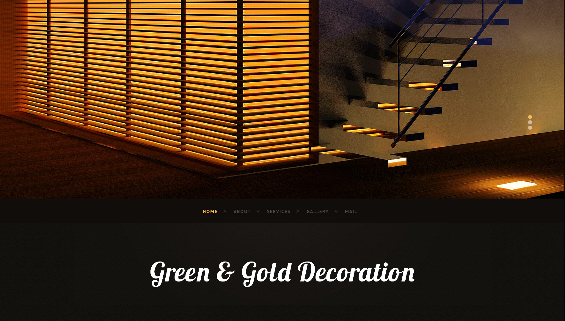 Green and Gold Decoration