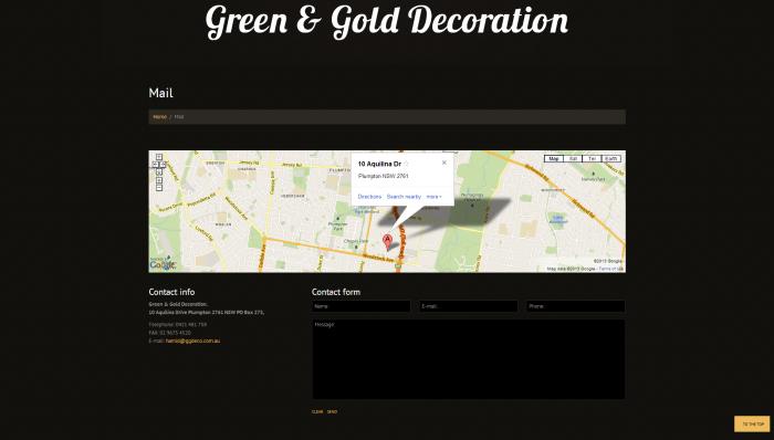 ggdeco website design 6