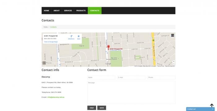 elecomp webdesign - contact page