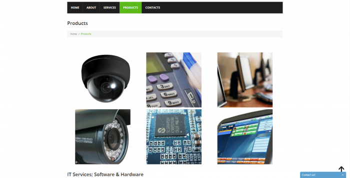 elecomp webdesign - products page