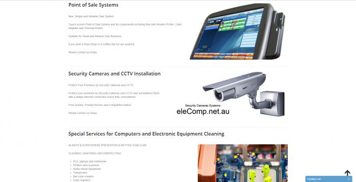 elecomp webdesign - services page