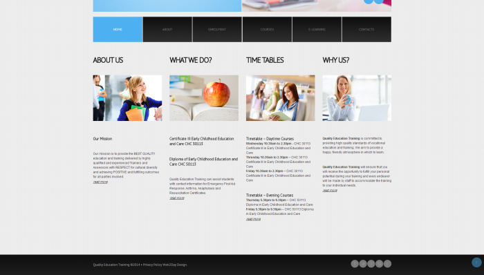 quality education training home page 3