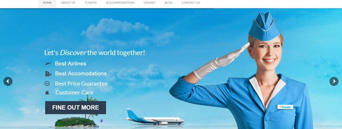 Bayani Air Travels website design