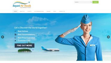 Bayani Air Travels website